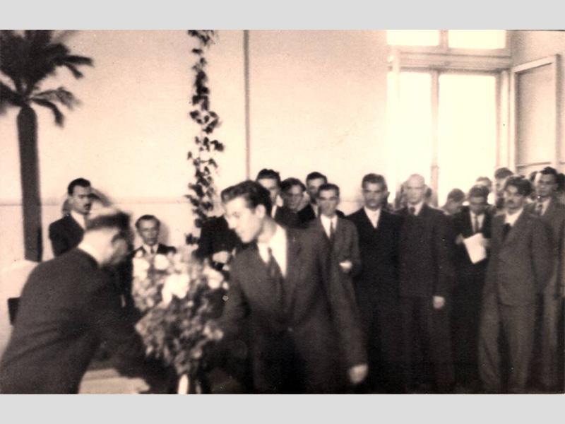 Premier bac après la guerre. Radom, 1945.