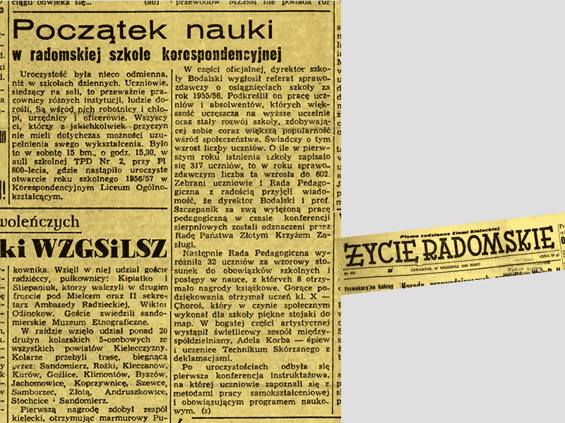 Une parution le 20 09 1956.