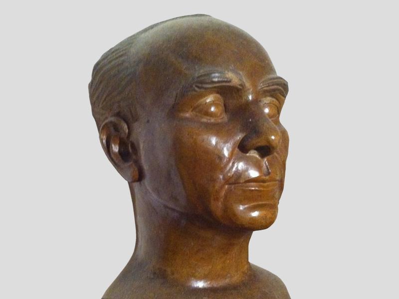 Maurycy Bodalski, buste. Sculpture de Jerzy Tietiajew. Bledow 1944. Coll. Devireux.