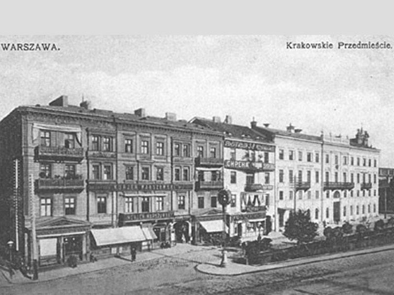 Krakowskie-Przedmiescie n°40, 38 et 36, avant 1914.