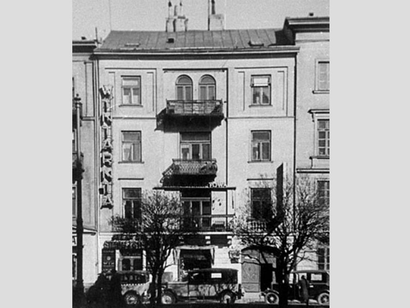 Krakowskie Przedmieście 38 - célèbre restaurant Simon i Stecki. Avant 1944.