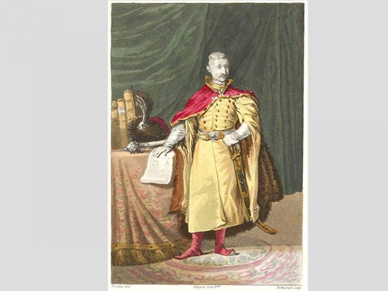 Jean-Pierre Norblin. Seigneur polonais en costume d'époque, 1817.