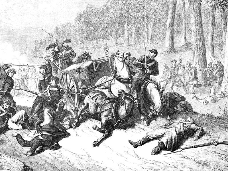 Bataille de Zyrzyn. 1863.