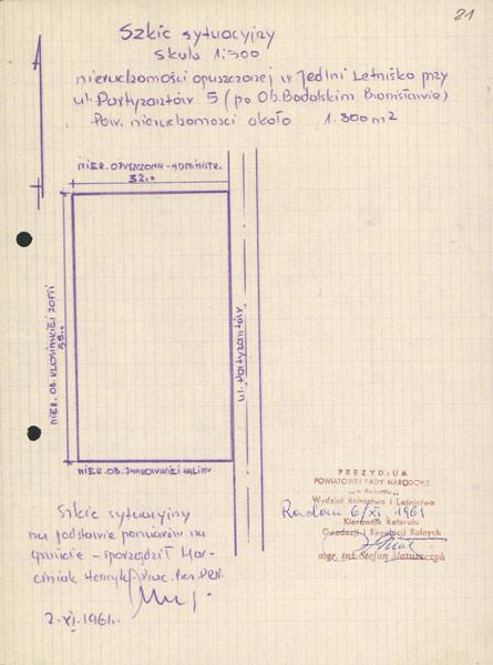 Jedlnia Letnisko - plan du bien de Bodalski Bronislaw.