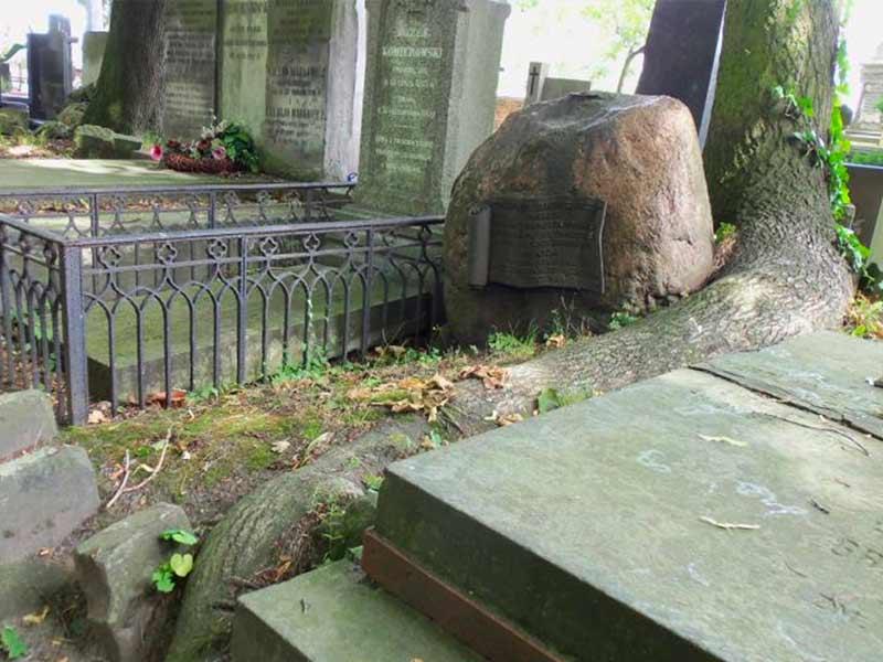 Broniewicz Walenty. Sa tombe à Varsovie, Cimetière Powazki.