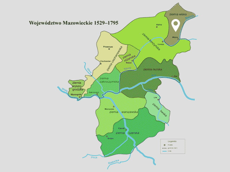 """Région """"Ziemia Wiska""""."""