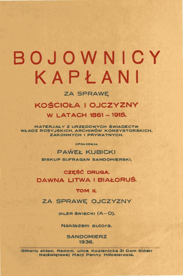 Couverture du livre de S. Kubicki qui parle de Jan Broniewicz.