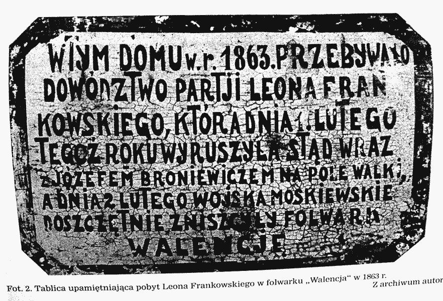 Le panneau accroché à la maison de Jozef Kasper en souvenir de l'insurrection de 1863.