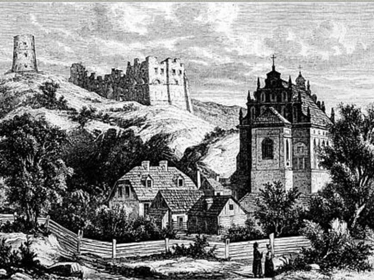 """Kazimierz. Gravure dans """"Tygodnik Ilustrowany"""" de 1865."""