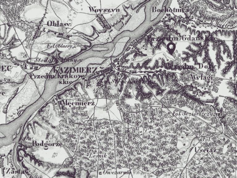 Kazimierz - carte, ca 1864.