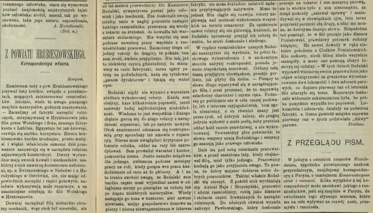Sur Kazimierz Bodalski et son travail.