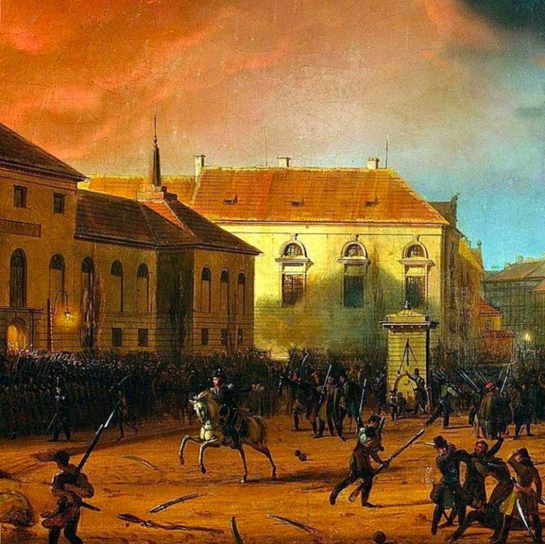 Marcin Zaleski. Prise de l'Arsenal. 1830, Varsovie.