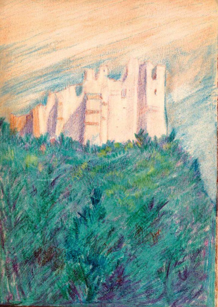 ©Maurycy Bodalski - Les ruines du château.