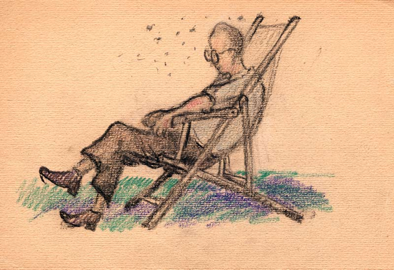©Maurycy Bodalski - Sur la chaise pliante.