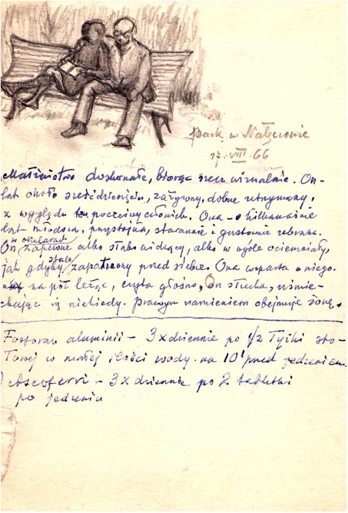 ©Maurycy Bodalski - Parc à Naleczow, 1966.