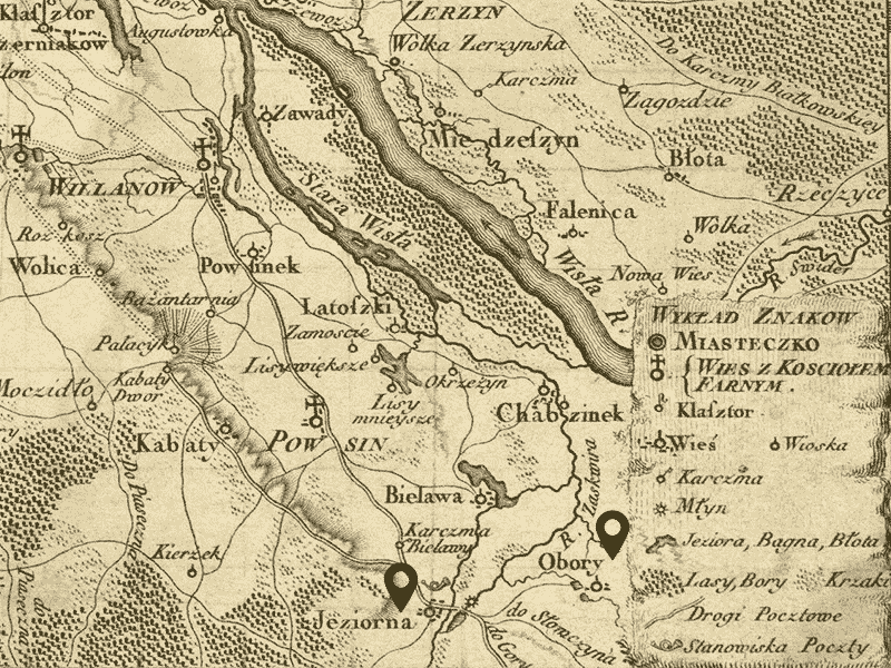 Obory et ses environs, 1794.