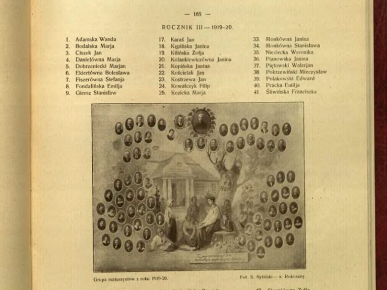 Groupe de bacheliers de l'année 1919/20.