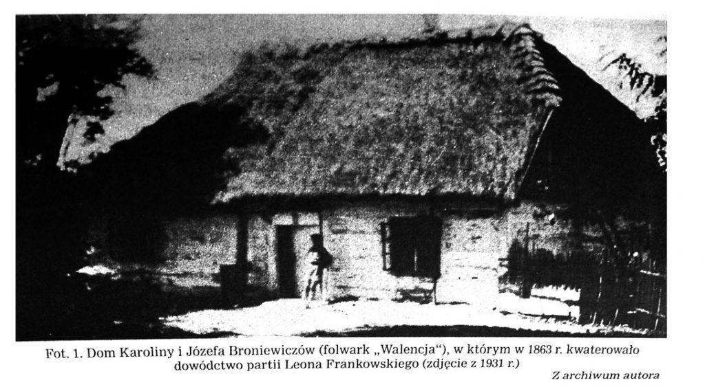 """La maison de Karolina et Jozef Broniewicz """"Walencja"""" où en 1863 siégeait le commandement du parti de Frankowski de l'insurrection. Photo date de 1931. Collection de Jerzy Broniewicz."""
