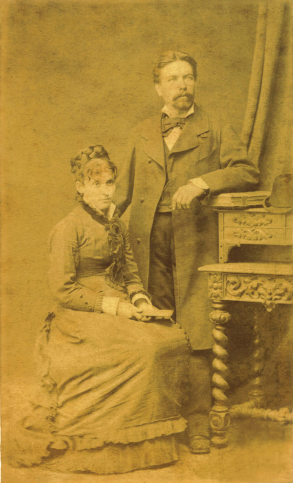 Paulina avec son mari, Wladyslaw Laniewski.